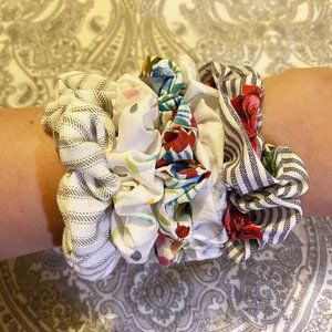 Scrunchies Pack of 5- Homemade and High Quality